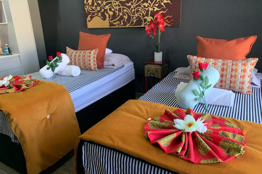 Kai Thai Fish Hoek wellness centre beds and towels